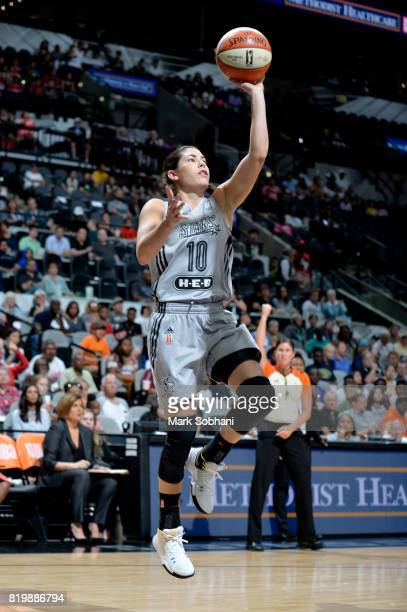 Kelsey Plum of the San Antonio Stars goes to the basket against the Indiana Fever on July 20 2017 at the ATT Center in San Antonio Texas NOTE TO USER...
