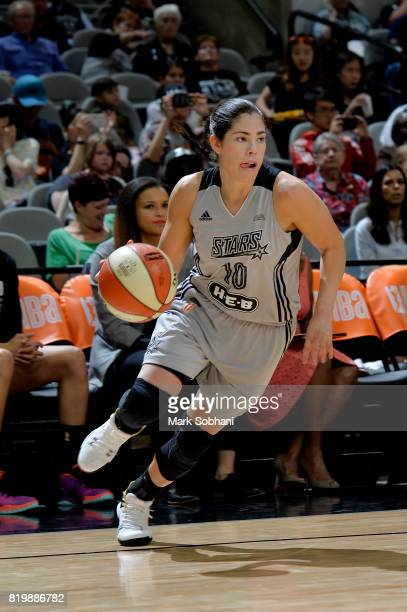 Kelsey Plum of the San Antonio Stars handles the ball against the Indiana Fever on July 20 2017 at the ATT Center in San Antonio Texas NOTE TO USER...