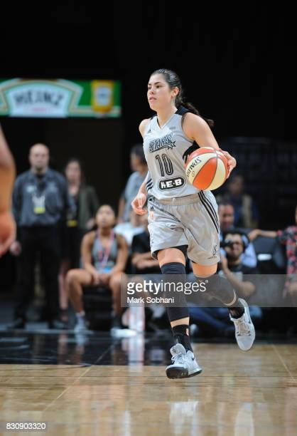 Kelsey Plum of the San Antonio Stars handles the ball against the Atlanta Dream on August 12 2017 at the ATT Center in San Antonio Texas NOTE TO USER...