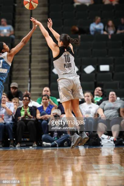 Kelsey Plum of the San Antonio Stars shoots the ball against the Minnesota Lynx on May 28 2017 at Xcel Energy Center in St Paul Minnesota NOTE TO...