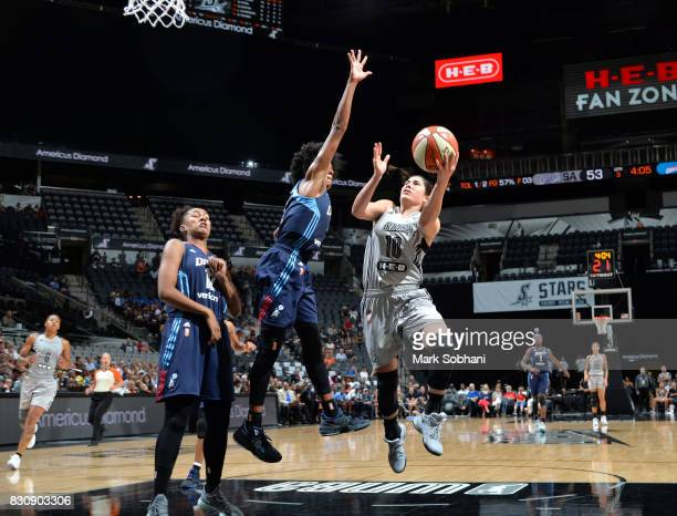 Kelsey Plum of the San Antonio Stars shoots the ball against the Atlanta Dream on August 12 2017 at the ATT Center in San Antonio Texas NOTE TO USER...