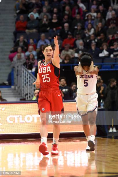 Kelsey Plum of the USA Women's National Team during the game against the UConn Huskies on January 27 2020 at XL Center in Hartford Connecticut NOTE...