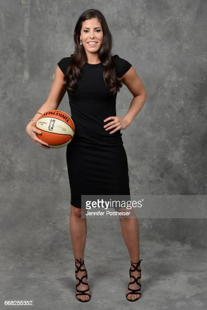 Kelsey Plum poses for a photo after being drafted number one overall by the San Antonio Stars during the WNBA Draft on April 13 2017 at Samsung 837...