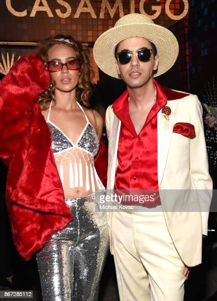 Kelsey Quinn and DJ Cassidy attend Casamigos Halloween Party on October 27 2017 in Los Angeles California