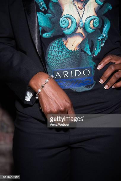 Kelsey Scott models ARIDO jewelry during ARIDO Jewelry Presents ARIDO GEM Award To Kelsey Scott at Mondrian Soho on July 2 2014 in New York City
