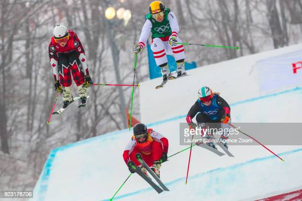 Kelsey Serwa of Canada takes 1st place Katrin Ofner of Austria competes Sanna Luedi of Switzerland competes Anastasiia Chirtcova of Russia competes...