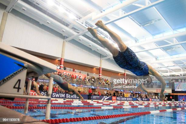 Kelsi Dahlia competes in the women's 200m butterfly at the 2018 TYR Pro Series on July 8 2018 in Columbus Ohio