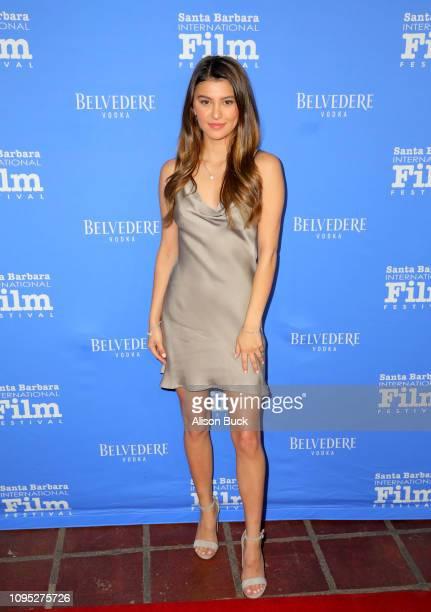 Kelsi Taylor attends the Cinema Vanguard Award Presented by Belvedere Vodka Honoring Michael B Jordan during the 34th Santa Barbara International...