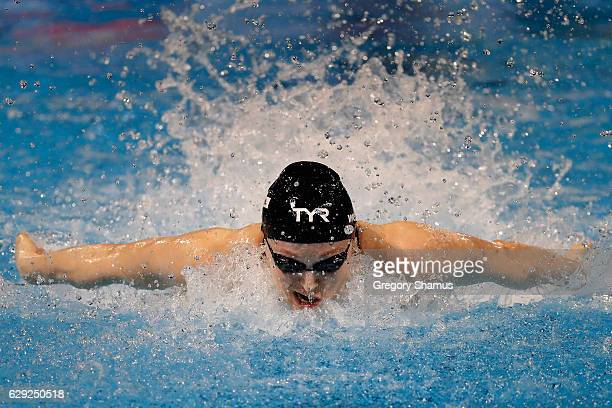 Kelsi Worrell of the United States competes in the 100m Butterfly final on day six of the 13th FINA World Swimming Championships at the WFCU Centre...