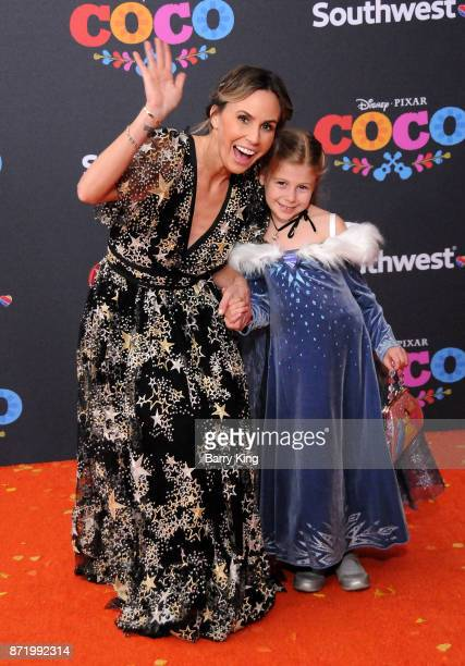 Keltie Knight and guest attend the US Premiere of Disney Pixar's 'Coco' at El Capitan Theatre on November 8 2017 in Los Angeles California