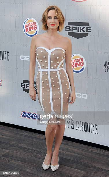 Keltie Knight arrives at Spike TV's 'Guys Choice' Awards at Sony Studios on June 7 2014 in Los Angeles California