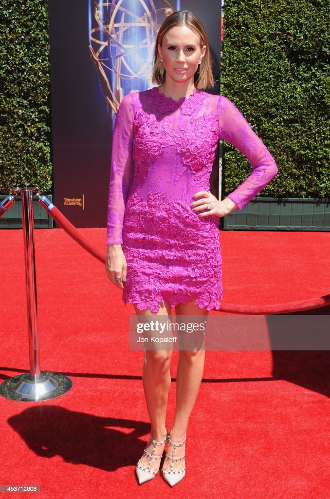 Keltie Knight arrives at the 2014 Creative Arts Emmy Awards at Nokia Theatre L.A. Live on August 16, 2014 in Los Angeles, California.