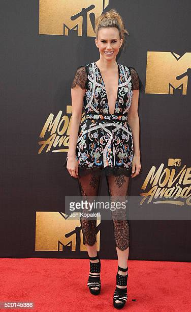 Keltie Knight arrives at the 2016 MTV Movie Awards at Warner Bros Studios on April 9 2016 in Burbank California