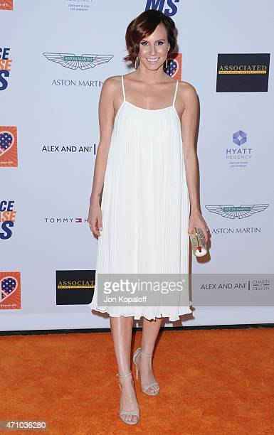 Keltie Knight arrives at the 22nd Annual Race To Erase MS at the Hyatt Regency Century Plaza on April 24 2015 in Century City California