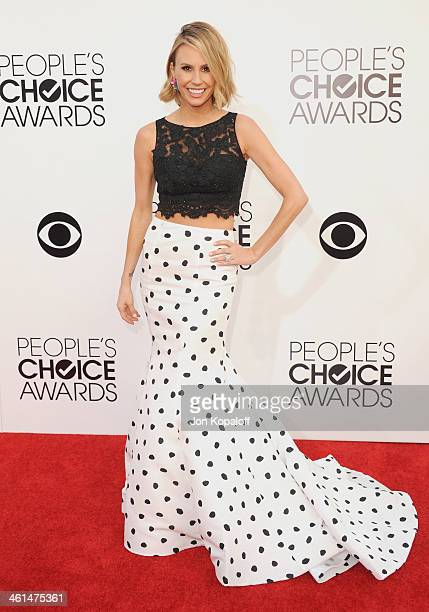 Keltie Knight arrives at The 40th Annual People's Choice Awards at Nokia Theatre LA Live on January 8 2014 in Los Angeles California