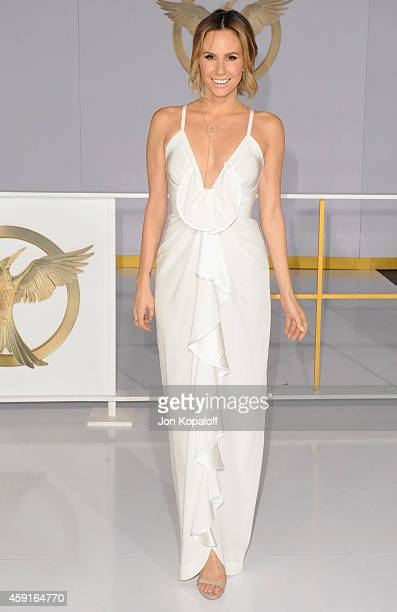 Keltie Knight arrives at the Los Angele Premiere The Hunger Games Mockingjay Part 1 at Nokia Theatre LA Live on November 17 2014 in Los Angeles...