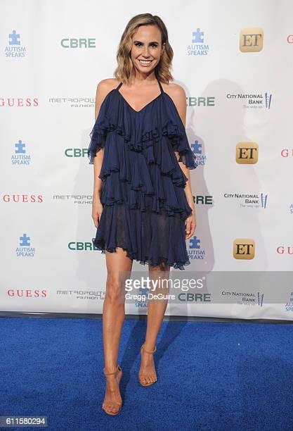 Keltie Knight arrives at the Metropolitan Fashion Week 2016 La Vie En Bleu Signature Event Benefiting Autism Speaks at Warner Bros Studios on...