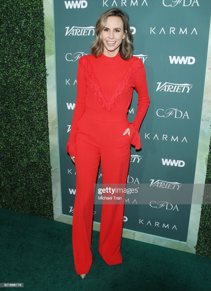 Keltie Knight arrives to the Council of Fashion Designers of America luncheon held at Chateau Marmont on February 20, 2018 in Los Angeles, California.