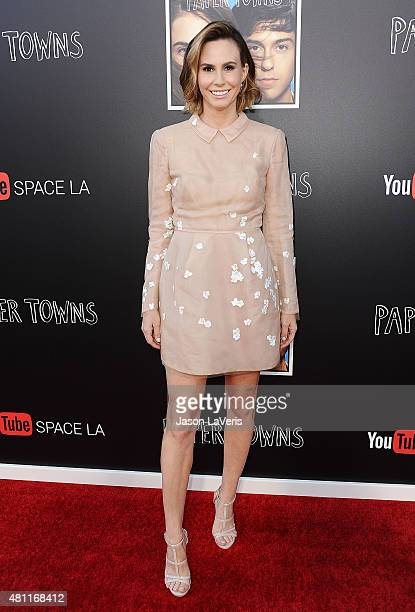 Keltie Knight attends the Paper Towns QA and live concert at YouTube Space LA on July 17 2015 in Los Angeles California