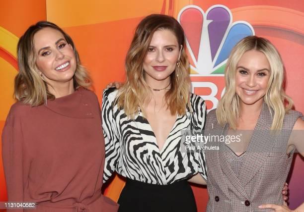 Keltie Knight Jac Vanek and Becca Tobin attend the NBC's Los Angeles midseason press junket at NBC Universal Lot on February 20 2019 in Universal...