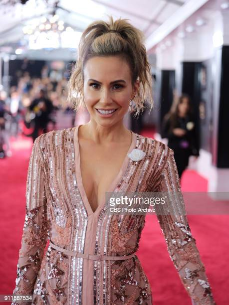 Keltie Knight on the red carpet at THE 60TH ANNUAL GRAMMY AWARDS broadcast live on both coasts from New York City's Madison Square Garden on Sunday...