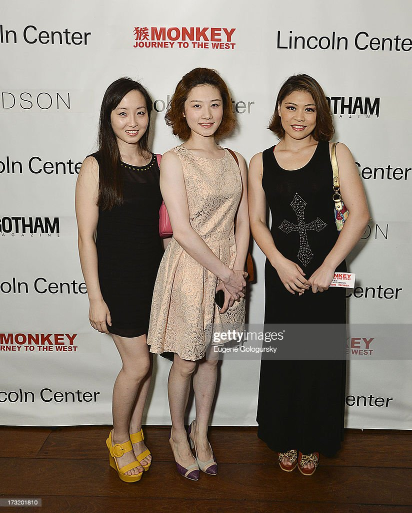 Kelu Nie, Fang Bai Zhu and Ziyun Hua attend the Lincoln Center Festival And Gotham Magazine Celebration of Monkey: Journey To The West at Hudson on July 9, 2013 in New York City.