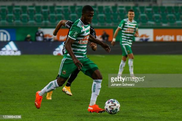 Kelvin Arase of Rapid controls the ball during the tipico Bundesliga match between SK Rapid Wien and LASK at Allianz Stadion on October 4 2020 in...