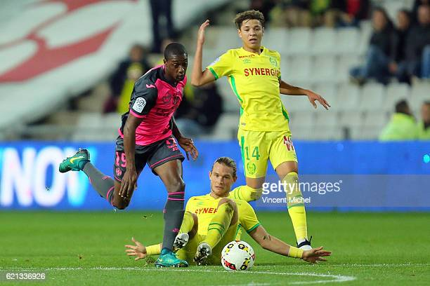 Kelvin Asian Adou of Toulouse during the Ligue 1 match between Fc Nantes and Toulouse Fc at Stade de la Beaujoire on November 5 2016 in Nantes France