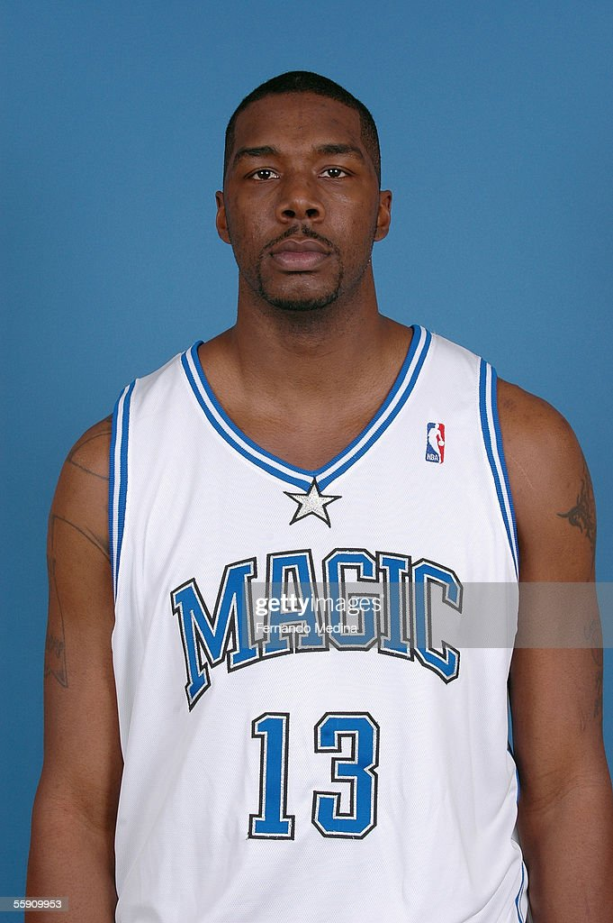 Kelvin Cato #13 of the Orlando Magic poses for a head shot at the TD Waterhouse Centre on October 3, 2005 in Orlando, Florida.