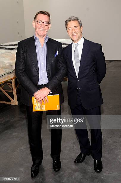 Kelvin Davis and Michael Govan attend LACMA's 2013 Collectors Committee Gala Dinner at LACMA on April 13 2013 in Los Angeles California