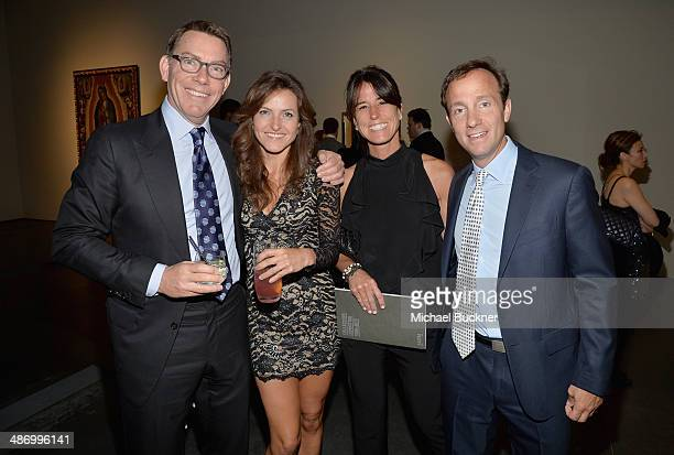 Kelvin Davis Araella Milman Daun Dees and Dan Dees attend LACMA's 2014 Collectors Committee Gala Dinner at LACMA on April 26 2014 in Los Angeles...