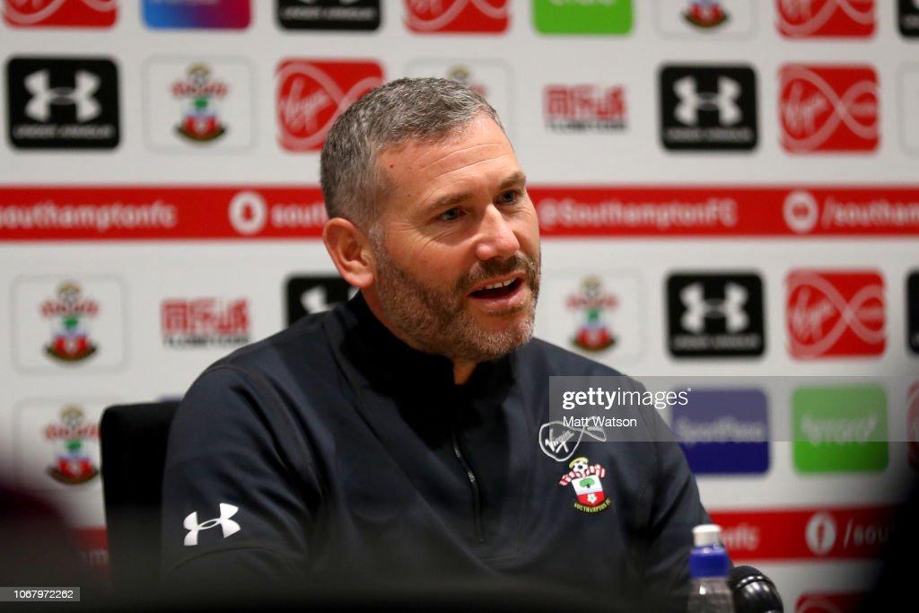 Southampton Training and Press Conference : News Photo
