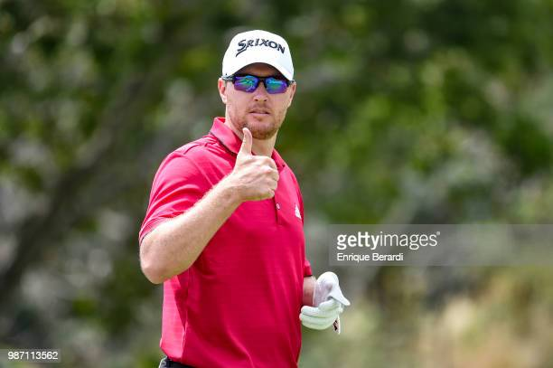 Kelvin Day of England during practice for the PGA TOUR Latinoamérica Guatemala Stella Artois Open at La Reunion Golf Resort Fuego Maya on March 14...