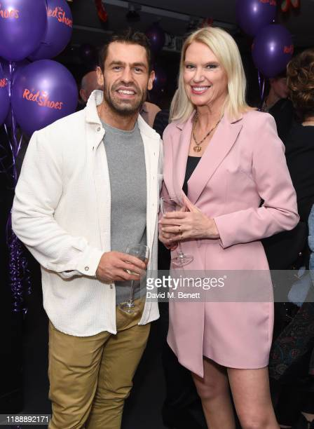 Kelvin Fletcher and Anneka Rice attend the press night performance of Matthew Bourne's The Red Shoes at Sadler's Wells Theatre on December 15 2019 in...