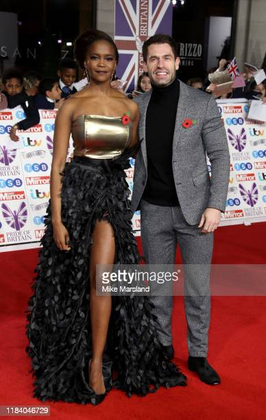Kelvin Fletcher and Oti Mabuse attend Pride Of Britain Awards 2019 at The Grosvenor House Hotel on October 28 2019 in London England