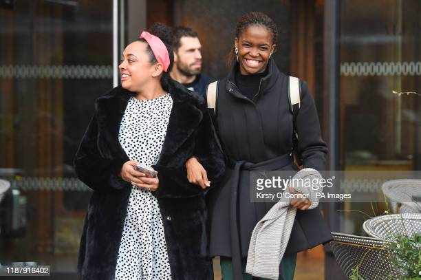 Kelvin Fletcher and Oti Mabuse leave White City House in London after a the Strictly Come Dancing grand final press conference