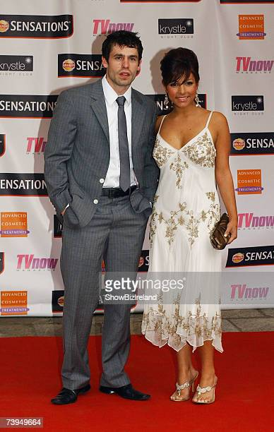 Kelvin Fletcher and Roxanne Pallett attend the TV NOW Awards ceremony held at The Mansion House on April 21 2007 in Dublin Ireland