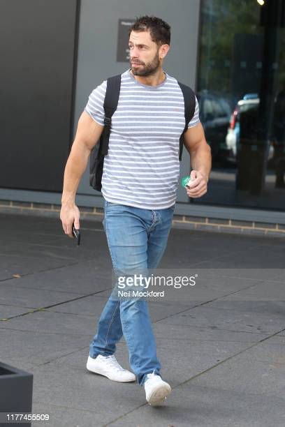 Kelvin Fletcher heading to Strictly Come Dancing rehearsals on September 27 2019 in London England