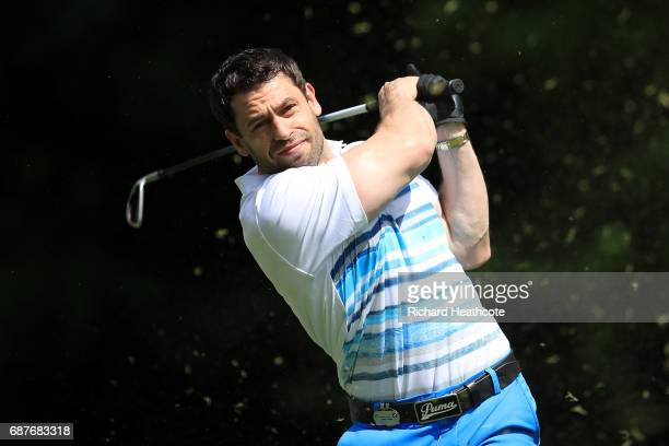 Kelvin Fletcher tees off during the BMW PGA Championship ProAm at Wentworth on May 24 2017 in Virginia Water England