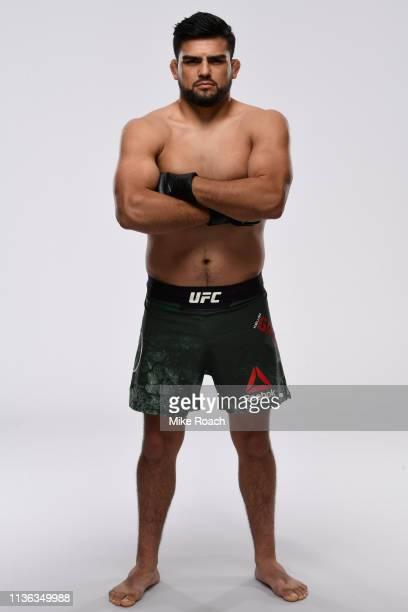 Kelvin Gastelum poses for a portrait during a UFC photo session on April 10 2019 in Atlanta Georgia