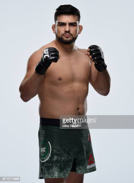 Kelvin Gastelum poses for a portrait during a UFC photo session on November 22 2017 in Shanghai China