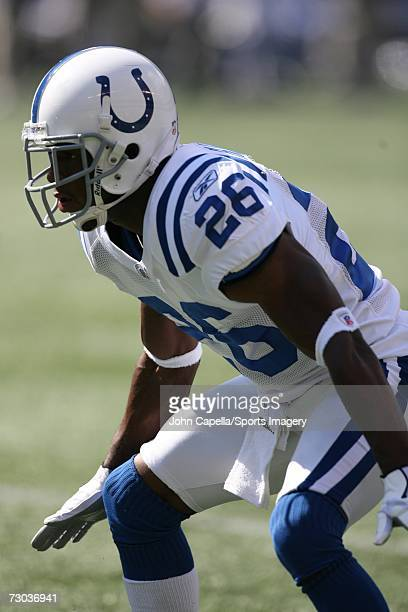 Kelvin Haden of the Indianapolis Colts during a game against the New York Jets at Giants Stadium on October 1 2006 in East Rutherford New Jersey The...