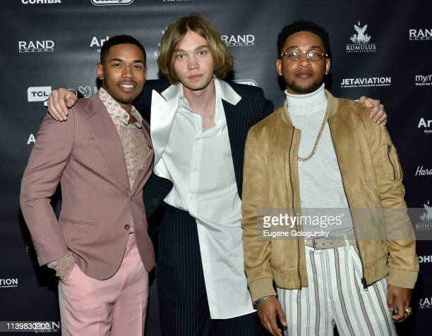 Kelvin Harrison Charlie Plummer and Jacob Latimore attend the Reception For GULLY Featuring Travis Scott During The Tribeca Film Festival on April 27...