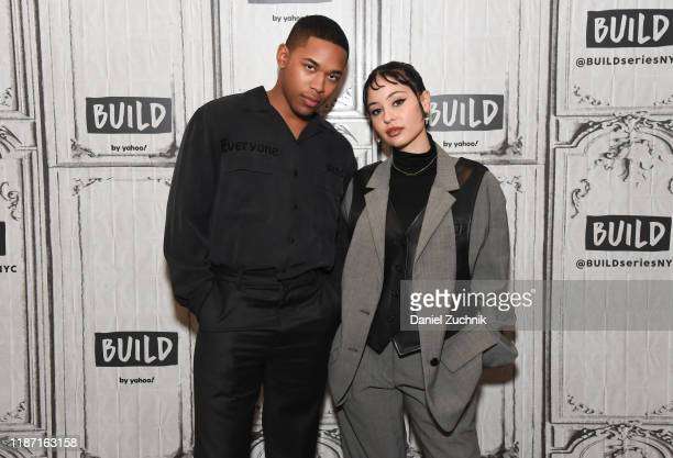Kelvin Harrison Jr and Alexa Demie attend the Build Series to discuss the new film Waves at Build Studio on November 12 2019 in New York City