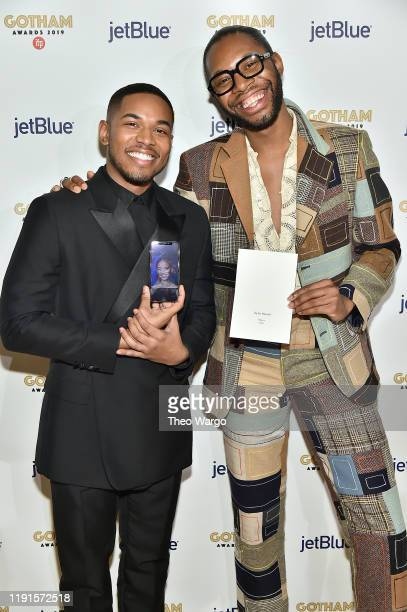 Kelvin Harrison Jr and Jeremy O Harris attend the IFP's 29th Annual Gotham Independent Film Awards at Cipriani Wall Street on December 02 2019 in New...