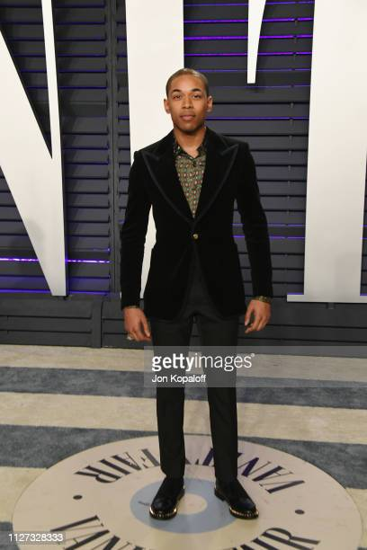 Kelvin Harrison Jr attends the 2019 Vanity Fair Oscar Party hosted by Radhika Jones at Wallis Annenberg Center for the Performing Arts on February 24...