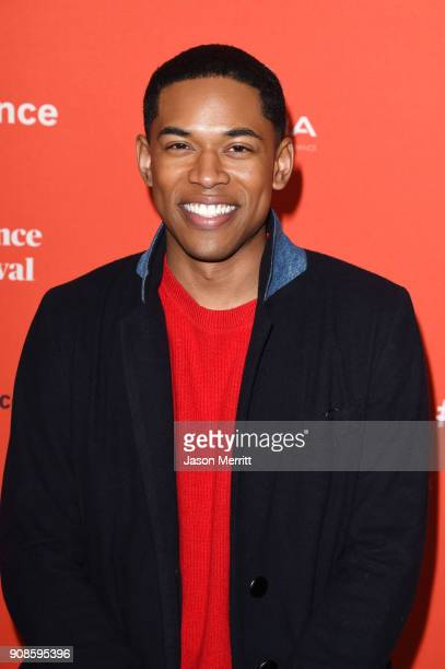 Kelvin Harrison Jr attends the Assassination Nation Premiere during the 2018 Sundance Film Festival at Park City Library on January 21 2018 in Park...