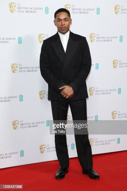 Kelvin Harrison Jr attends the EE British Academy Film Awards 2020 Nominees' Party at Kensington Palace on February 01 2020 in London England