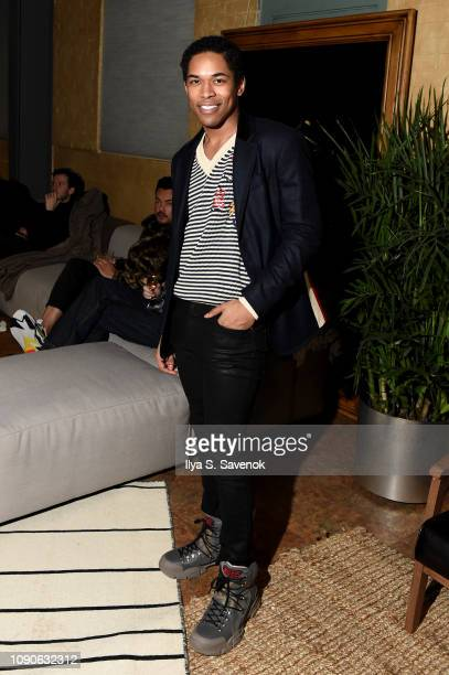 Kelvin Harrison Jr attends The Future Is Fluid Screening And Panel Discussion Hosted By GUCCI And CHIME at The Shop on December 27 2018 in Park City...
