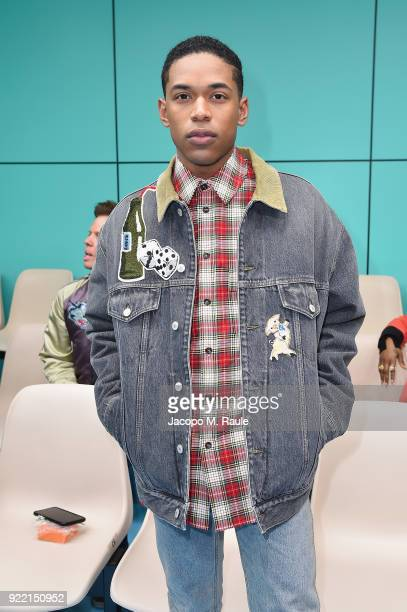 Kelvin Harrison Jr attends the Gucci show during Milan Fashion Week Fall/Winter 2018/19 on February 21 2018 in Milan Italy